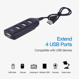 Hub mini usb online-Micro USB Hub Mini 4 Port USB 2.0 Hub USB charing switch Condivisione porta per il computer portatile del PC Periferiche per computer Accessori