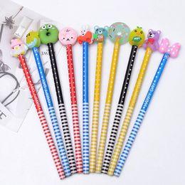 2019 1 pz new fashion childres giocattoli Cartoon PVC penna animale set penna contorto uovo ventosa bambola giocattolo penna copertura da