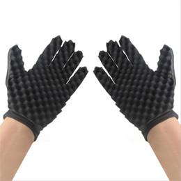 Simples gants en Ligne-Éponge Noir Maison Doux Gants Simple Pratique Réutilisable Pratique Léger Chaud Vente Chaude Cheveux Bouclés Coiffure Outil 3 5dyD1