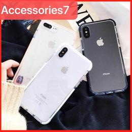 étuis élégants iphone 6s Promotion De luxe Ultra-Mince Effacer Élégant Pare-chocs Coin Antichoc Placage Doux Silicone Couverture De Cas De Téléphone Pour Apple iPhone XS Max XR 10 X 8 7 6S Plus