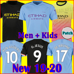 1fcce9c97 19 20 soccer jersey city 2019 2020 MAHREZ G. JESUS DE BRUYNE KUN AGUERO football  shirt MENDY MAN uniforms manchester maillot men + kids kit man city ...