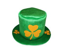 Weihnachtshut s online-Weihnachten Grün Klee Hut St. Patrick's Day Irland Männer Und Frauen Hüte Bachelorette Party Supplies Halloween Karneval 9 5hy A1
