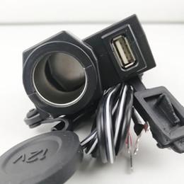 Porta del caricatore del usb del motociclo online-UNO 12 v 2.1A Moto impermeabile Moto 5 V Porta di alimentazione USB Accendisigari Integrazione Presa Presa Caricatore Spedizione gratuita