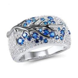 2020 nuevos diseños de anillos de diamantes joyas Crystal Tree Branch Ring Nuevo diseño Anillos de diamantes Anillo de bodas Regalo para mujeres Joyería de moda 080492 nuevos diseños de anillos de diamantes joyas baratos