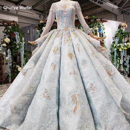 2019 padrões do pescoço do vestido formal HTL528 vestidos longos à noite lace up inchado padrão O-pescoço vestidos formais à noite as mulheres até o chão vestido de festa noite padrões do pescoço do vestido formal barato
