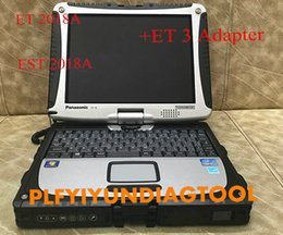 alldata reparar software instalado laptop Desconto Laptop CF19 instalar para Per-kins EST 2018A + para gato vermelho ET 2018A com adaptador real CA3 para ambos PerkinsCat ferramenta de diagnóstico