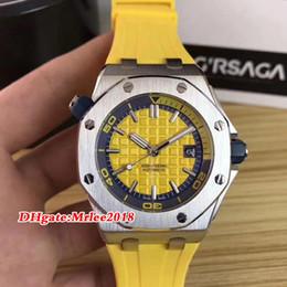 Relógio offshore automático on-line-13 cor relógio de luxo 42mm 15710 royal oak offshore relógio automático pulseira de borracha mens relógios 2813 movimento homens relógio de pulso relógios