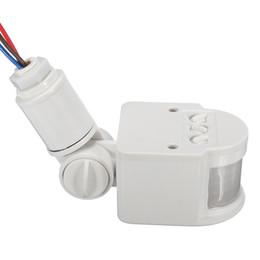 Interrupteur d'inondation en Ligne-2019 Nouvel interrupteur de capteur de corps de capteur infrarouge PIR Flood Light - Noir (ouverture 16mm)