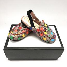 дизайнер малышей мальчиков девочек сандалии роскошные летние детские сандалии высокого качества натуральная кожа корова мышц подошва обувь красочные звезды логотип обувь от Поставщики белые мелиссы