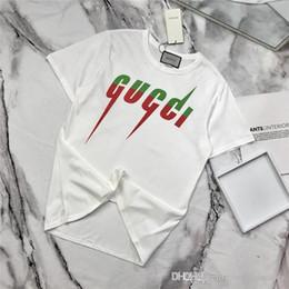 Flash hombre camiseta online-Diseño de marca de lujo de 19ss letras en flash Tee Shirt Hombres Mujeres Moda transpirable Streetwear Sudaderas Camisetas al aire libre