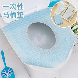 almofada de papel higiênico descartável Desconto Descartável de papel 150pcs Toilet Seat Cover Protector Camping Viagem higiênico WC Mat Pad Almofada Banho Suprimentos Set