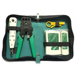 Комплект сетевого тестера rj45 онлайн-Тестер сетевого кабеля Ethernet RJ45 Kit Инструменты для обжима обжимных панелей RJ11 Cat6 Wire Detector