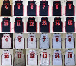 équipe de basketball Promotion 1992: Team One USA Dream - Larry Bird - Michael J Ewing - Pippen Mullin Robinson - Drexler - Laettner - Stockton - Malone Johnson - Maillot de basket-ball Barkley