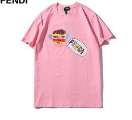 Camisas de diseño de forro online-2019 Nueva tendencia de verano Hombres y mujeres camiseta Moda camiseta de manga corta Classic Ball line Diseño de impresión Cuello redondo camiseta