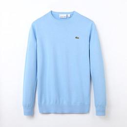 Argentina Tamaño de navidad M-XXL Nuevo Polo de alta calidad Aguja trenzada suéter de punto de algodón con cuello en v suéter suéter suéter masculino Suministro