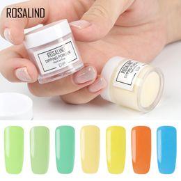 Natürliche designnägel online-Rosalind 10g Eintauchen Nagel natürliche Farbe holographische Glitter Nail Art D101-124 keine Notwendigkeit Lampe Heilung für Design