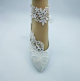 Argentina Mujeres hechas a mano de moda marfil zapatos de boda ballet plano perla encaje diamante nupcial zapatos de dama de tamaño de la UE 35-41 Suministro
