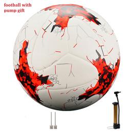 Fußballmannschaft geschenke online-internationale Größe 5 Fußball-Premier Seamless Fußball-Tor-Team-Match Trainingsbälle Liga futbol bola mit Pump-Geschenk