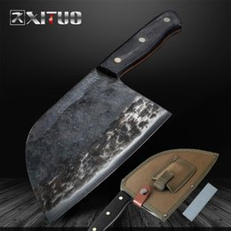 butchers tools Promo Codes - High -Carbon Clad Steel Handmade Knife Forged Chef Knife Chopping Tool Professional Kitchen Knives Nakiri Gyuto Butcher 'S