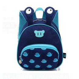 school toy bag for boys Promo Codes - 2019 Unisex Kids Girls Boys Cute Cartoon Snails Pattern School Backpack Kindergarten Bookbag Toy Bag For Children 2~7Yrs