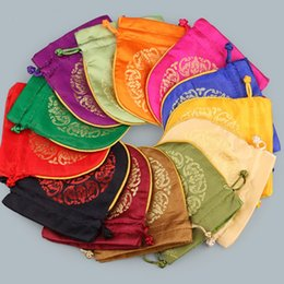 2019 papier de velours en gros sac de cordon de style chinois 17 style chaud, emballage de cadeau de mariage, sacs trousses à bijoux, sac de rangement, emballage cadeau T2C5021