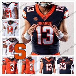 trikot nummer 21 Rabatt Benutzerdefinierte Syracuse orange 2019 New Football Alle Name Anzahl Marine-Blau-Weiß 13 Tommy DeVito 21 Moe Neal McNabb Männer Jugend Kid Jersey