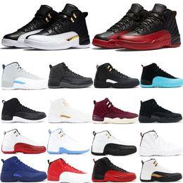Alas de mujer zapatos deportivos online-Jumpman Basketball 12 XII Zapatos Diseñador Sports Wings CNY TAXI Playoff Flu Game Zapatos para correr para hombres Mujeres Zapatillas de deporte
