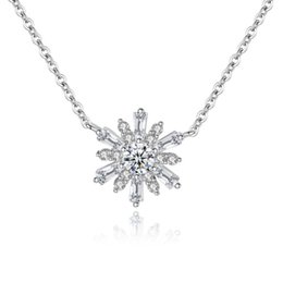 676f81c44c2 WYEAIIR Sun Flower Rhinestone Pendant Personality Temperament Fashion Cute 925  Sterling Silver Clavicle Chain Female Necklace