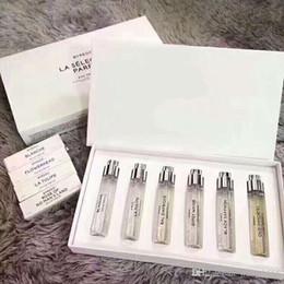 amostras grátis perfume Desconto 19SS nova moda perfume amostra 6-piece perfume caixa de presente com 6 diferentes fragrâncias, 12 ml frete grátis por garrafa