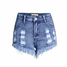 1a81404d50 pantalones Rebajas LISER 2019 Nuevo diseño dobladillo deshilachado  pantalones de mezclilla rasgados Botón azul Mosca Pantalones