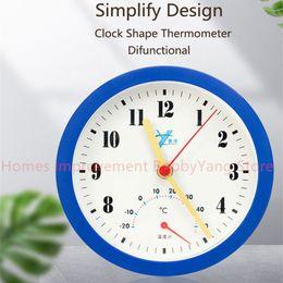 Reloj de pared funcional con termómetro / medidor de temperatura Diseño simple Reloj de silencio Niños Sala de estudio Decoración del hogar Regalo de cumpleaños desde fabricantes
