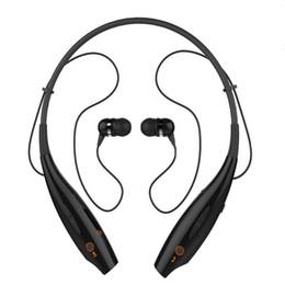 Спортивный наушник для ушей онлайн-Для iPhone 7 6 Plus стерео Bluetooth наушники спортивная гарнитура шеи висит Беспроводной наушники-вкладыши MP3-плеер оптом