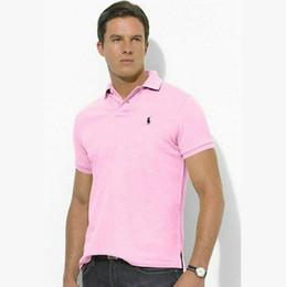 Hombre estilo polo online-Estilo clásico POLO Ralph diseño POLO camisa de algodón doble hebilla moda casual moda vanguardista de los hombres camisa POLO