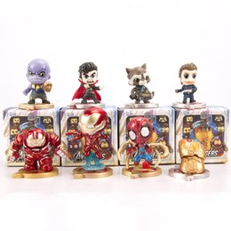 Figurine di torta online-Cute Version The Avengers Figurine Giocattoli modello Otto Set Exquisite Cake Baking Ornamenti decorativi Veicolo Ornamento 45cs O1