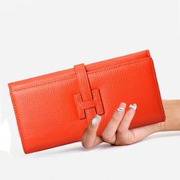 57ac3d68c Para mujer carteras y monederos para 2018 de cuero de vaca larga chica  billetera bolsillo grande de lujo diseñador de lujo bolsa de dinero titular  de la ...