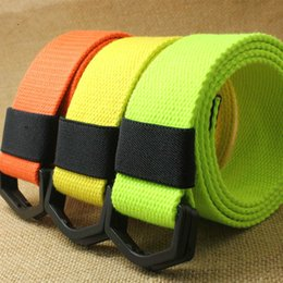 Cinturón de lona para mujer para hombre con anillo en D negro Cinturón de correas Jeans para mujeres, hombres, cintura con hebilla de plástico desde fabricantes