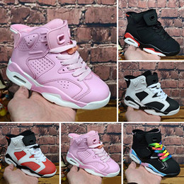 279f7b2f8 Atacado novo desconto crianças 6 sapatas de basquete do bebê unc ouro preto  vermelho kid 6 s meninos sneakers crianças esportes formadores baixos  tamanho ...