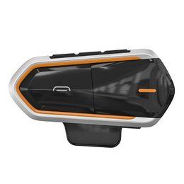 QTBE6 Casco moto Bluetooth Walkie Talkie Intercom Radio FM con cancellazione del rumore DSP Elaborazione del suono del vento da