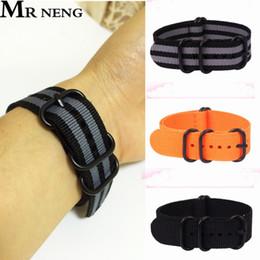 bracelets zoulous Promotion Pour Nato zulu Strap noir Anneau Boucle 20mm 22mm 24mm Bracelets Hommes Femmes Casual Montres Bracelet Bracelet Montre-Bracelet Boucle