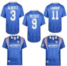 2019 camisetas de futbol blancas de italia ventas retro clásico 1996 de 1997 del jersey de fútbol Rangers VICENTE McCoist LAUDRUP GASCOIGNE camisa 96 97 fútbol Deportes S-2XL