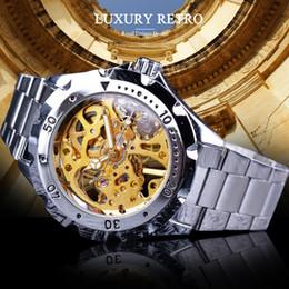 mãos de relógio de aço inoxidável Desconto Forsining Womens Relógios Mecânicos Luxo Luminous Hands Mulheres Relógios Aço Inoxidável Gear Case Ouro Skeleton Clock SLZe22