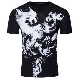 Homens pretos quentes camiseta on-line-venda quente camisa do verão t homens casuais impressa V-neck homens de manga curta camiseta de algodão cor preta tshirt tamanho S-2XL Atacado transporte livre