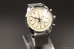 2019 viejos relojes de cuarzo Nuevo Estilo Antiguo Marca de Cuarzo Relojes Hombre Milky Dial Caja Platino Analógica Esqueleto Reloj de Marca de Acero Inoxidable Especial Digital viejos relojes de cuarzo baratos