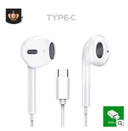 Tipos de auriculares online-Auriculares con cable USB tipo C Auriculares con caja de control Micrófono tipo C Auriculares para LeEco Le 2 Para Xiaomi huawei