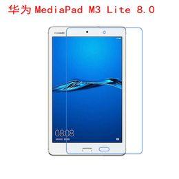 2019 transparente tablette pc High Clear HD Transparenter Displayschutzfilm für Huawei MediaPad M3 Lite 8 8.0-Zoll-Tablet-PC (kein Glas) + Trockentuch günstig transparente tablette pc