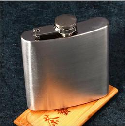 Alcool d'argento online-Eco-Friendly in acciaio inox 6 once Hip Flask alcool Flask Pocket 2016 CALDO Silver Colore Vino Flask Parte bevanda Partito Bicchieri