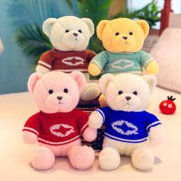 Sofá de pelúcia on-line-Nova camisola de pelúcia urso boneca de brinquedo de pelúcia travesseiro sofá decoração para enviar amigos crianças presente de aniversário 30 CM