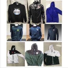 Ropa deportiva italia online-Brasil cremallera de la chaqueta de la chaqueta de fútbol 2019/2020 Corinto Boca Juniors Palmeiras CRUZEIRO fútbol rompevientos Italia Ropa de deporte