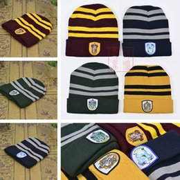 Harry Potter Hat Hogwarts Gryffindor Slytherin Ravenclaw Hufflepuff Badge  Hat Skull Caps winter Hats Hallowmas Gift 200pcs T1I1100 discount ravenclaw  skull ... 5f61ad00e41b