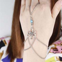 2019 braccialetti di schiavo di modo Gioielli Donna Pulseira New Fashion Retro Bracciale Finger Bangle Slave Catena regalo per Friends fascia damen z0524 braccialetti di schiavo di modo economici